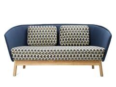 - 2 seater fabric sofa AURA WOOD - Inno Interior Oy