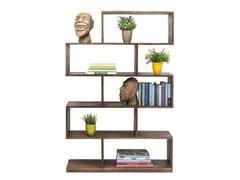 Libreria a giorno bifacciale in acaciaAUTHENTICO ZICK ZACK 150 - KARE-DESIGN
