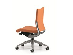 - Leather task chair with 5-Spoke base with casters AVIA 4000 - TALIN