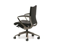 - Leather task chair with 5-Spoke base with armrests with casters AVIA 4004 - TALIN