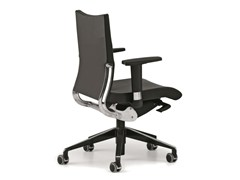 - Leather task chair with 5-Spoke base with armrests with casters AVIA 4006 - TALIN