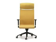 - Leather executive chair with 5-spoke base with headrest with casters AVIA 4046 - TALIN