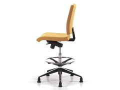 - Ergonomic fabric drafting stool with 5-Spoke base AVIAMID 3498 - TALIN