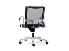 - Mesh task chair with 5-Spoke base with armrests with casters AVIANET 3654 - TALIN