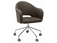 - Swivel easy chair with 5-spoke base with casters Agatha 048-5R - Metalmobil
