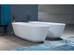 - Oval Cristalplant® bathtub BAÌA SMALL | Bathtub - Antonio Lupi Design®
