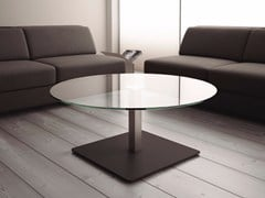 - Round glass bistro side table BADA | Glass coffee table - Systemtronic