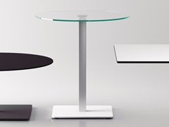 - Round glass contract table BADA | Glass table - Systemtronic