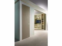 Porta a filo muro scorrevole con finitura effetto cementoBAKLITE - BARAUSSE