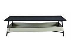- Rectangular MDF coffee table with integrated magazine rack for living room BASKET | Coffee table for living room - ROCHE BOBOIS
