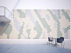 Pannelli decorativi acustici in cemento-legnoBAUX ACOUSTIC TILES HEXAGON - BAUX