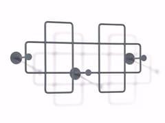 - Wall-mounted powder coated steel coat rack BAZAR   Wall-mounted coat rack - Richard Lampert