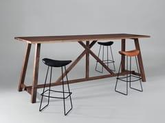 - Rectangular wooden high table BC02 | High table - Janua