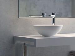 Lavabo da appoggio rotondo in materiale composito in stile modernoBEE - BLUBLEU