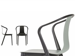 - Stackable polyamide chair with armrests BELLEVILLE AMRCHAIR PLASTIC - Vitra