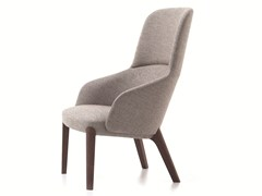 - Contemporary style bergere upholstered wooden guest chair BELLEVUE 08 - Very Wood