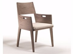 - Solid wood chair with armrests BETTY   Chair with armrests - FLEXFORM