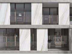 - Porcelain stoneware Panel for facade BIANCO LASA | Panel for facade - FMG Fabbrica Marmi e Graniti