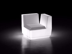 - Corner polyethylene armchair BIG CUT | Armchair with light - PLUST Collection by euro3plast