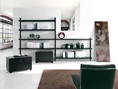 - Wall-mounted sectional bookcase BIG HOME | Wall-mounted bookcase - Caimi Brevetti