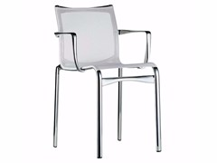 - Stackable mesh chair with armrests BIGFRAME - 440 - Alias
