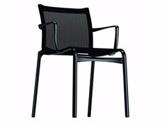 - Stackable mesh chair with armrests BIGFRAME LOW - 413 - Alias