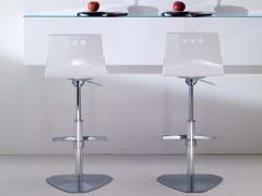 - Vitrex counter stool with footrest BINGO - Ozzio Italia