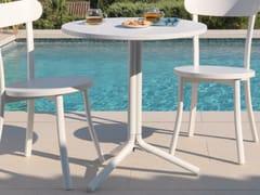 - Round aluminium garden table BISTRÒ | Round table - Talenti