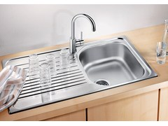 - Single built-in stainless steel sink with drainer BLANCO TIPO 45 S - Blanco