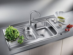 - Built-in stainless steel sink with drainer BLANCO TIPO 6 S BASIC - Blanco