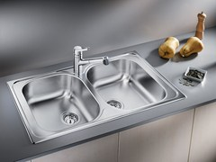 - 2 bowl built-in stainless steel sink BLANCO TIPO 8 - Blanco