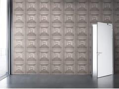 - Motif wallpaper BLEACHED OAK VICTORIAN PANELLING - Mineheart