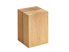 Sgabello / tavolino in teakBLOCC | Tavolino - SOLPURI