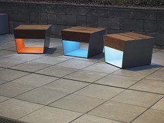 - Illuminated solid wood chair BLOCQ | Outdoor chair - mmcité 1