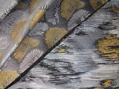- Jacquard upholstery fabric with graphic pattern BLOOM IKAT - l'Opificio