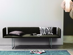- Upholstered fabric bench with back BLOW | Fabric bench - more