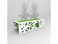 Fioriera per spazi pubblici alta bassa personalizzata in metalloBOBBY | Fioriera per spazi pubblici - CITYSÌ