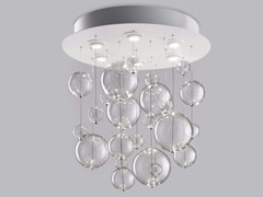 - Blown glass ceiling lamp BOLERO Ø 60 - Metal Lux di Baccega R. & C.