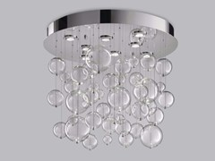 - Blown glass ceiling lamp BOLERO Ø 80 - Metal Lux di Baccega R. & C.