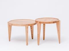 - Solid wood side table BONTRI - ST FURNITURE