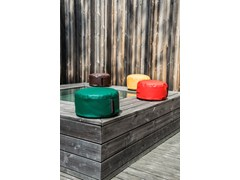 - Imitation leather bean bag with removable lining BOO OUTSIDE - Pusku pusku