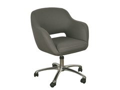 - Swivel fabric easy chair with 5-spoke base BORBOLETA | Easy chair with 5-spoke base - Branco sobre Branco