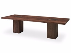 - Rectangular solid wood table BOSS EXECUTIVE - Riva 1920