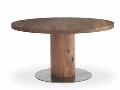 - Round solid wood table BOSS EXECUTIVE | Round table - Riva 1920