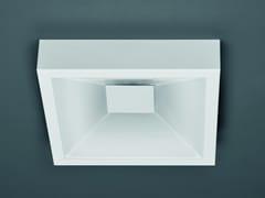 - Glass wall lamp / ceiling lamp BOTTONE QUADRO - Sforzin Illuminazione