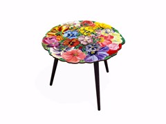 - Round laminate coffee table BOUQUET L | Round coffee table - Bazartherapy