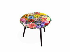 - Round laminate coffee table BOUQUET M | Round coffee table - Bazartherapy