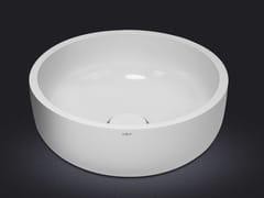 - Countertop round resin washbasin BOWL ROUND 30 - Vallvé Bathroom Boutique
