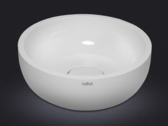 - Countertop round resin washbasin BOWL ROUND 40 - Vallvé Bathroom Boutique