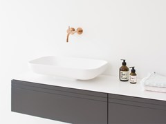 - Countertop rectangular HI-MACS® washbasin BOX | Countertop washbasin - Not Only White